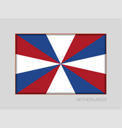 Dutch flag the prinsengeus national ensign aspect vector