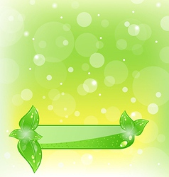 Ecology background with green leaves vector image vector image