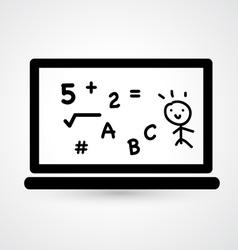 education blackboard vector image