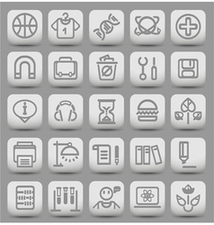 Education grey buttons3 vector