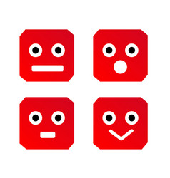 emoji button icon vector image