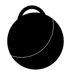 Fitness ball icon simple style vector