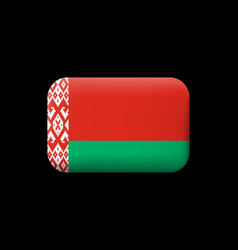 Flag of belarus matted icon and button vector