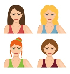four women vector image