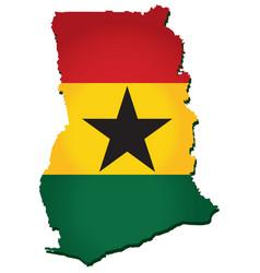 Ghana map vector