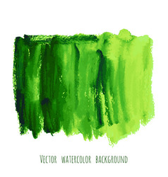 Greenery hand paint watercolor texture vector