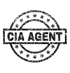 Grunge textured cia agent stamp seal vector