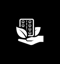 Herbal medicine icon flat design vector