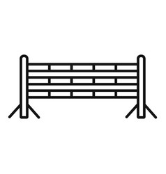 Horse jump obstacle icon outline style vector