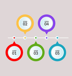 infographic template five steps or workflow vector image