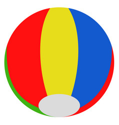 isolated beach ball toy icon vector image