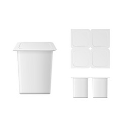isolated yogurt container vector image