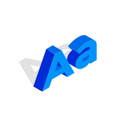 Isometric a letter font first vector