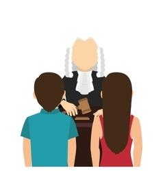 Judge avatar character icon vector