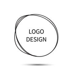 Logo design hand drawn circle doodle vector