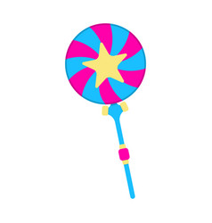 Lollipop icon fantasy world of the unicorn vector