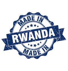 Made in rwanda round seal vector