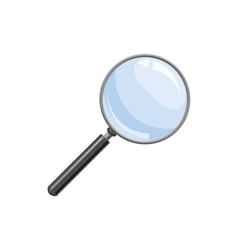 Magnifying glass icon in cartoon style vector