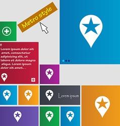 Map pointer award GPS location icon sign Metro vector