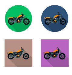 Motorcycles icon set in flat style vector