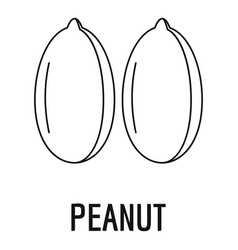 peanut icon outline style vector image