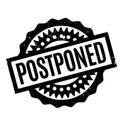 Postponed rubber stamp vector image