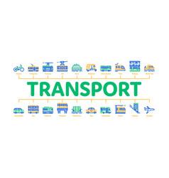Public transport minimal infographic banner vector