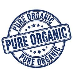 Pure organic blue grunge round vintage rubber vector