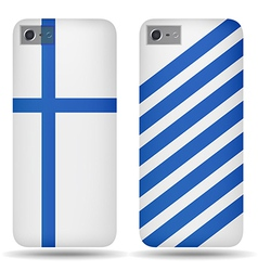 Rear covers smartphone with flags Finland vector