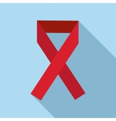 Red ribbon icon flat style vector image