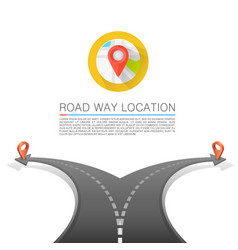 road choice road arrow cover road way location vector image