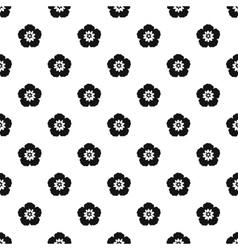 Rose of Sharon pattern simple style vector image