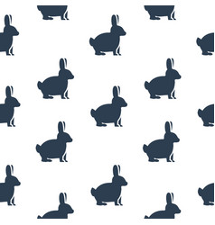 seamless texture with rabbits vector image