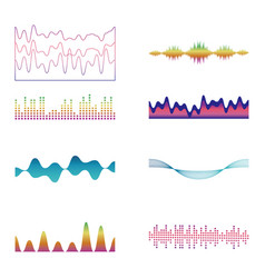 Set of waves graphics vector
