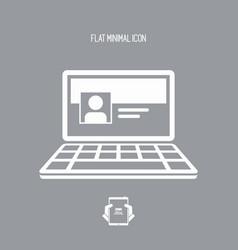 social network page - flat minimal icon vector image