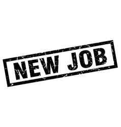Square grunge black new job stamp vector