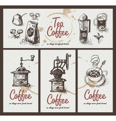 Tea coffee vector