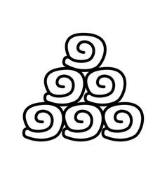 Thin line towel icon vector