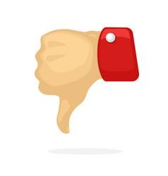 thumb down symbol dislike vector image