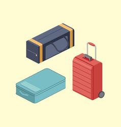 Travel bags isometric vector
