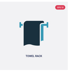 two color towel rack icon from miscellaneous vector image