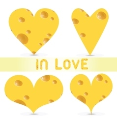 valentines day - cheese set vector image