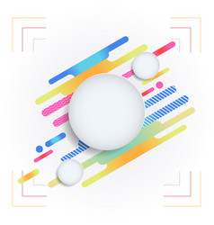 white abstract background with design concept vector image