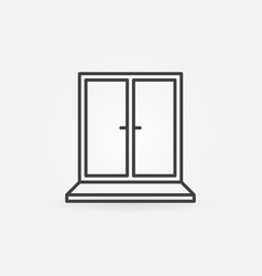 window concept icon in thin line style vector image
