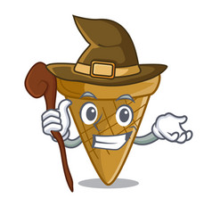 Witch empty wafer cone for ice cream character vector