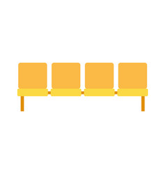 yellow stops seats flat isolated on white vector image
