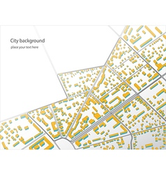 an imaginary district plan An example of low-rise vector image