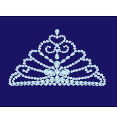 feminine wedding diadem crown on blue vector image vector image