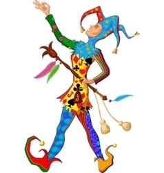 singing Joker vector image