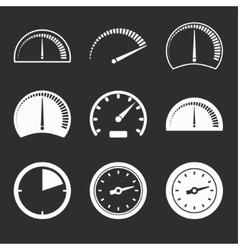 Speedometer icon set vector image